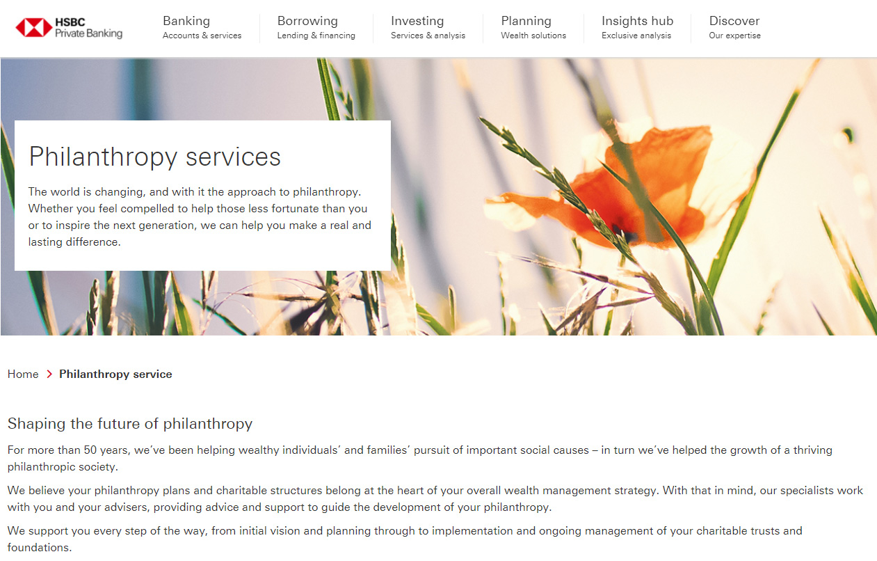 HSBC Private Bank - Philanthropy brochure