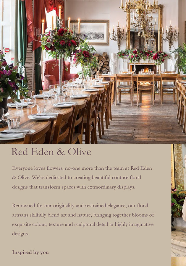 Red, Eden & Olive - Promotional mailer