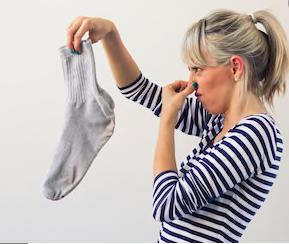 Soaking socks smell!